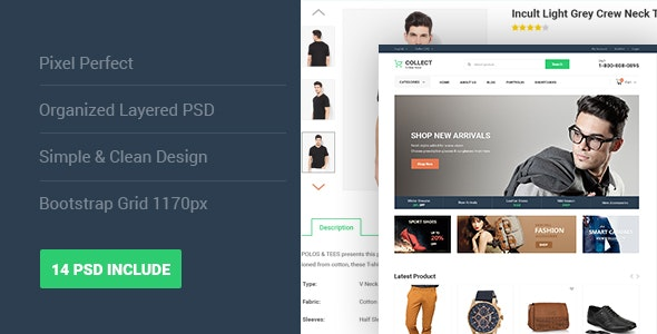 Collect - Fashion eCommerce PSD Template - Shopping Retail
