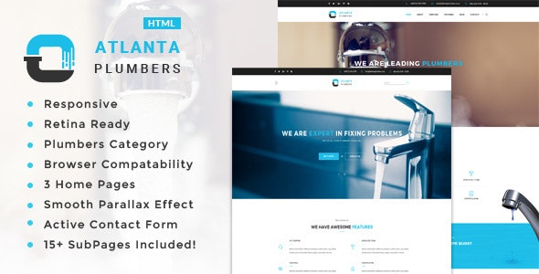 Atlanta - Plumber and Construction HTML Template - Business Corporate