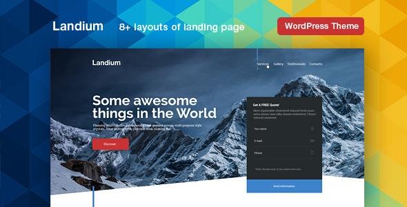 Landium - WordPress App & Landing Page Theme Pack - Marketing Corporate
