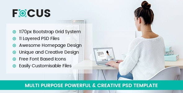 Focus - Multipurpose PSD Template - Creative Photoshop