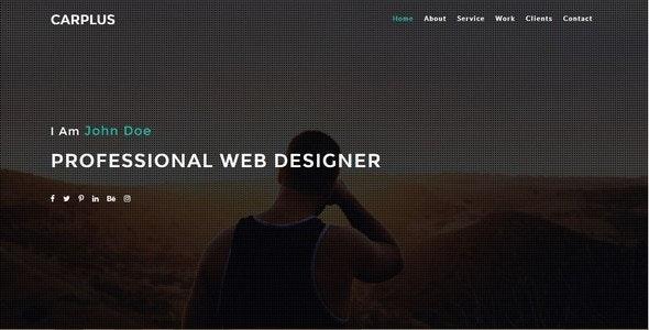CARPLUS-Simple Personal/Portfolio Template - Personal Site Templates