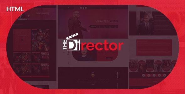The Director - Film Director & Video Portfolio HTML Template - Entertainment Site Templates