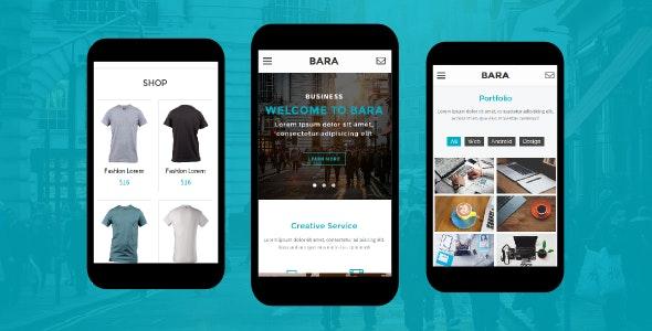 Bara - Creative Mobile Template - Mobile Site Templates