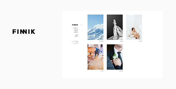 Finnik - Minimal WordPress Theme for Photographers - Photography Creative