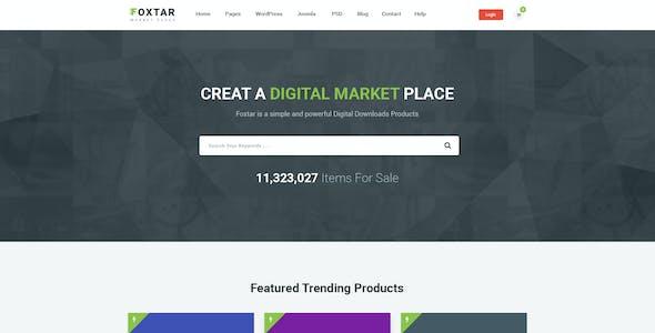 FOXSTAR - Digital Market Place PSD Template