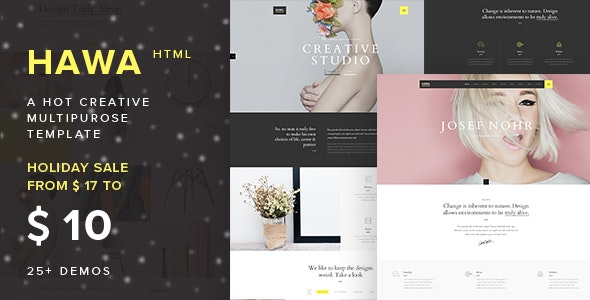 Hawa - A Hot Creative Multi-Purpose Template - Creative Site Templates
