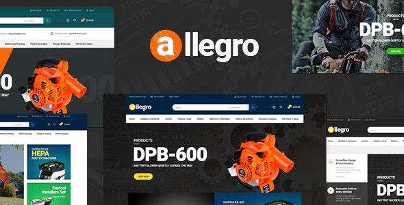 Allegro - WooCommerce WordPress Theme for Equipment Stores - WooCommerce eCommerce
