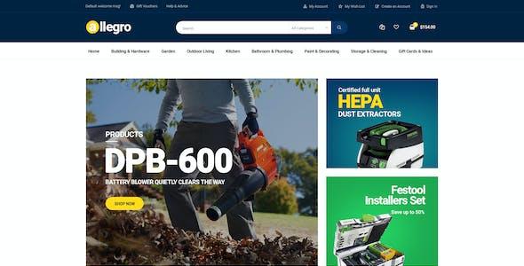 Allegro - Equipment Shop WooCommerce WordPress Theme for Machine & Tools