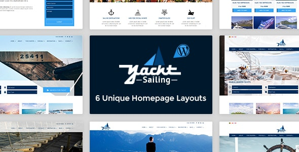 Yacht Sailing - Marine Charter WordPress theme - Travel Retail