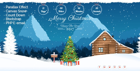 Christmas Landing Page - Site Templates