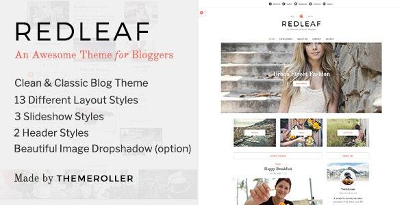 Redleaf - A Clean Blog & Magazine WordPress Theme - Blog / Magazine WordPress