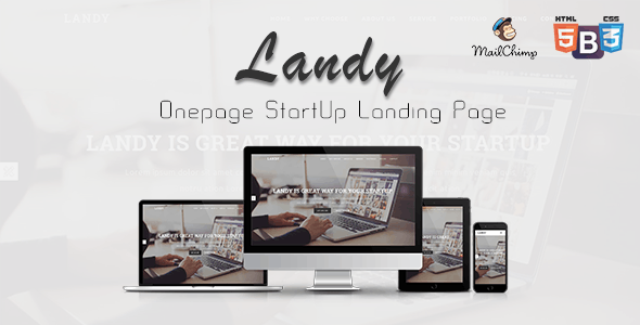 Landy - Onepage Startup Landing Page - Landing Pages Marketing