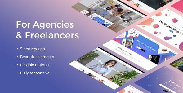 Graphic Design Portfolio Presentation Website Templates