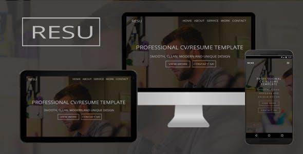 Resu - Personal Portfolio Template