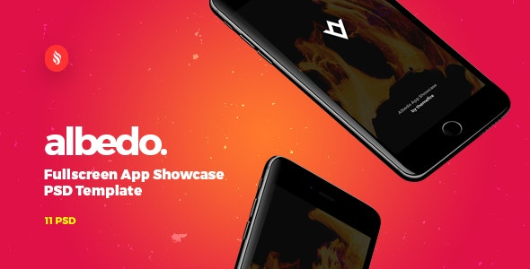 Albedo - Full Screen App Showcase PSD Template - Creative Photoshop