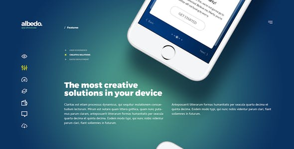 Albedo - Full Screen App Showcase PSD Template