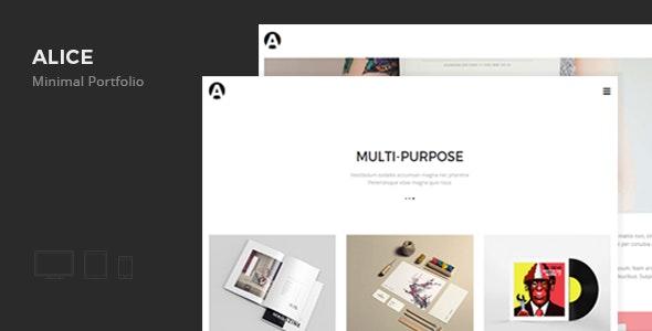 Alice - Minimal Portfolio - Personal Muse Templates