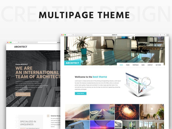 Architect Multipage HTML5 Theme - Corporate Site Templates