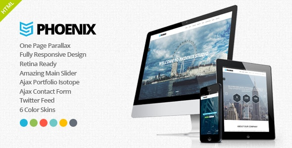 Phoenix - Responsive One Page Parallax Template - Corporate Site Templates