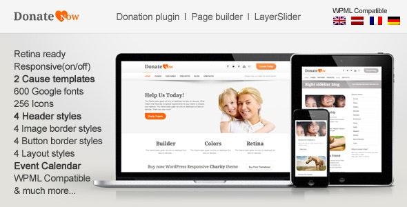 DonateNow | WordPress Theme for Charity - Charity Nonprofit