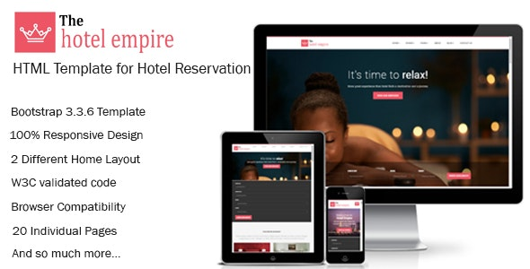 Hotel Empire - Hotel Reservation HTML Template - Travel Retail