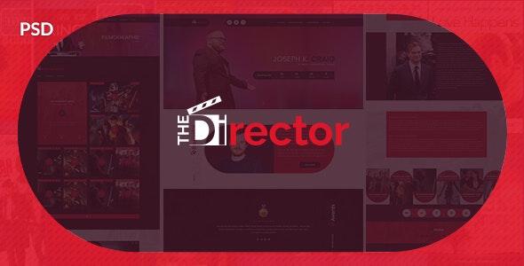The Director - Film Director & Video Portfolio PSD Template - Entertainment Photoshop