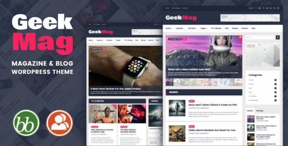 GeekMag - Magazine News Blog WordPress Theme - News / Editorial Blog / Magazine