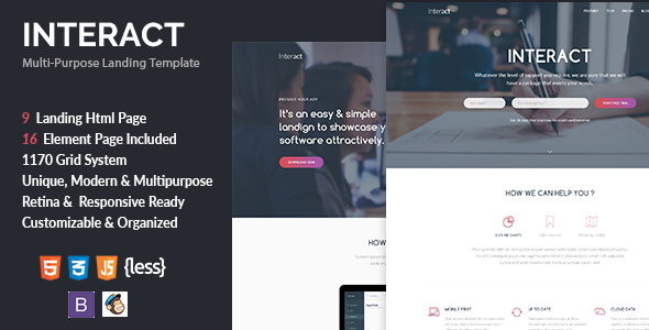 Interact - Multipurpose Landing Page Template - Creative Landing Pages