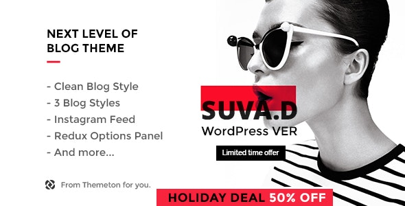 SUVAD - Personal Blog WP Theme - Personal Blog / Magazine