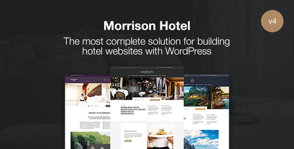 Morrison Hotel - WordPress Booking Theme - Travel Retail