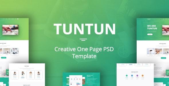 Tuntun - Creative One Page PSD Template - Portfolio Creative