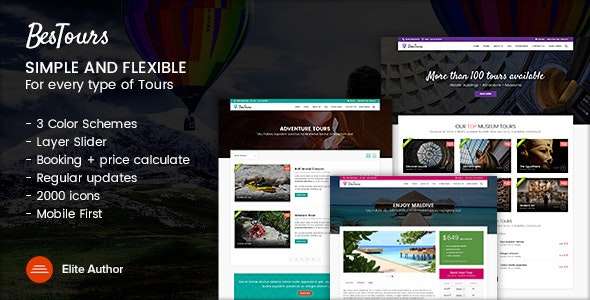 Bestours - Excursions and Travel multipurpose template - Travel Retail