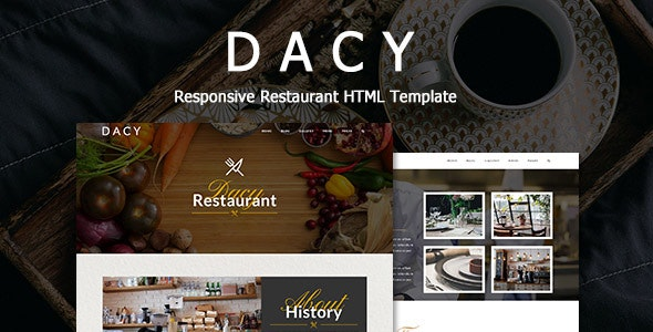 Dacy - Responsive HTML Template for Restaurant - Restaurants & Cafes Entertainment