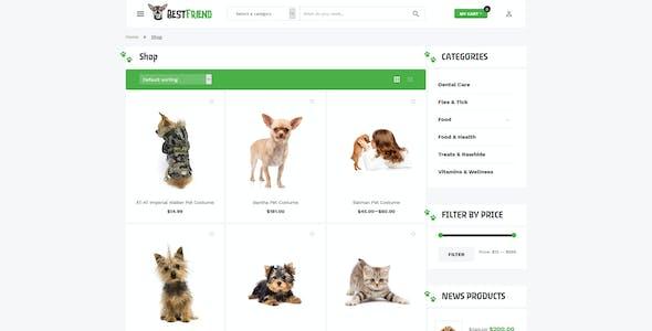 Bestfriend - Pet Shop WordPress WooCommerce Theme