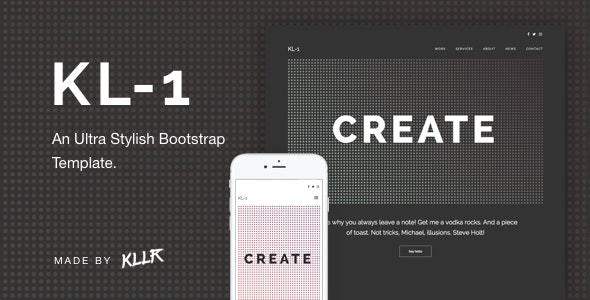 Kl-1 - An Ultra Stylish Bootstrap Template - Creative Site Templates