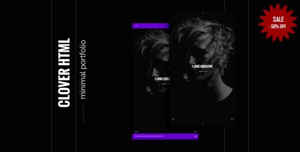 Clover - creative minimal portfolio html5 - Creative Site Templates