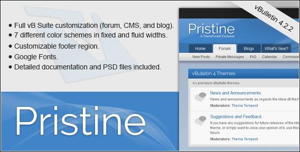 Pristine - A vBulletin 4 Suite Theme - vBulletin Forums