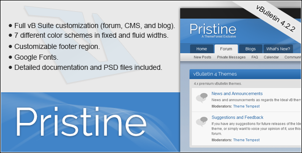 Pristine - A vBulletin 4 Suite Theme - vBulletin Forums