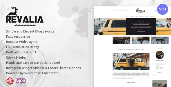 Revalia - Multi-Concept WordPress Blog & Shop Theme - Personal Blog / Magazine