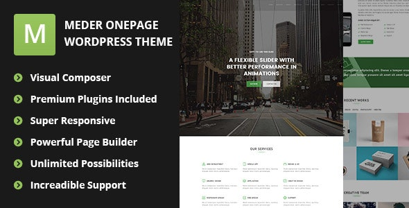 Meder - WordPress Parallax Scrolling Theme - Portfolio Creative