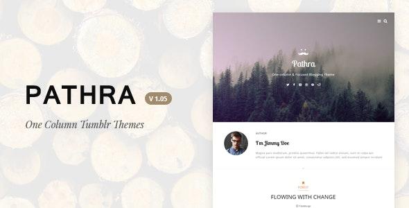 Pathra | One-column Focused Blogging Theme - Blog Tumblr