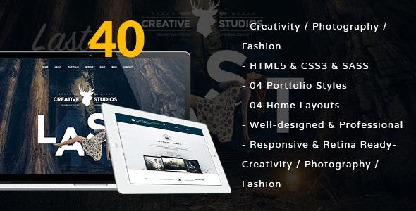 Last 40 Creative Website Template - Creative Site Templates