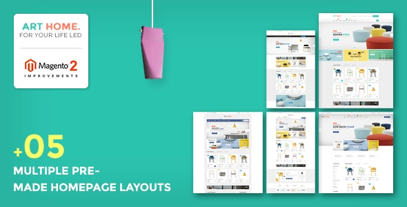 Ves Arthome Magento 2.2.x Template With Pages Builder - Shopping Magento