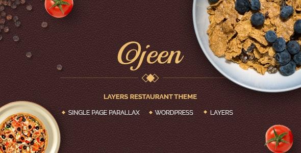 Ojeen - Layers Restaurant WordPress Theme - Restaurants & Cafes Entertainment