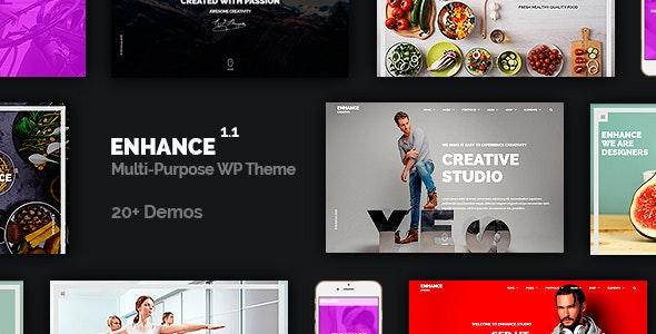 Enhance - Multi-Purpose Onepage Multipage Theme - Business Corporate