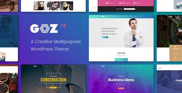 Goz - Creative Multipurpose WordPress Theme - Corporate WordPress