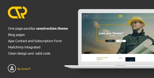 Consta - One Page Construction Html Template - Business Corporate
