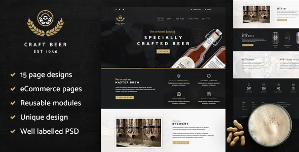 Craft Beer Nation PSD - Retail Photoshop