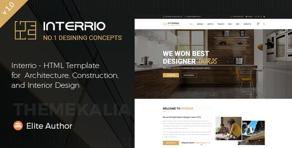 Interrio - HTML Template for Architecture and Interior Design - Business Corporate