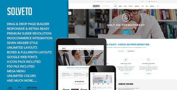Solveto - Multi-Purpose Business Theme